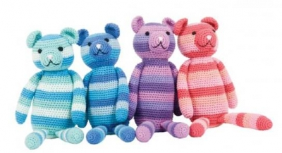 fair trade crochet teddy bear
