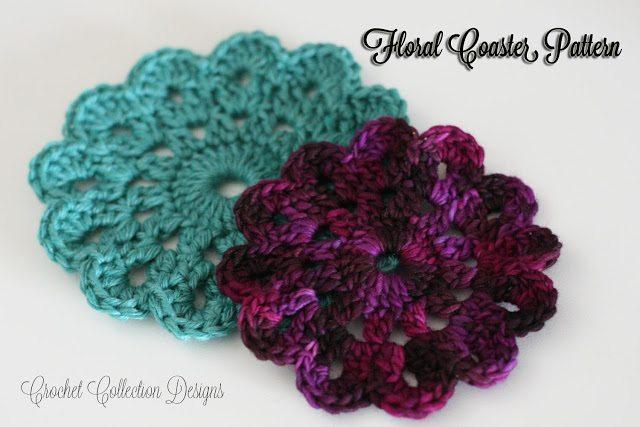 floral crochet caster pattern