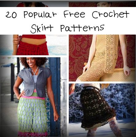 free crochet skirt patterns 25 Most Popular Free Crochet Patterns