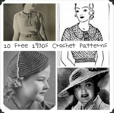 free vintage crochet patterns 400x395 2013 in Crochet: Vintage and Retro Crochet