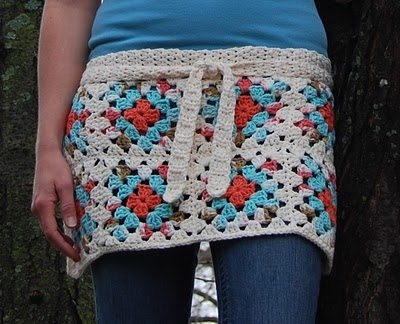 granny square apron pattern 20 Popular Free Crochet Skirt Patterns for Women