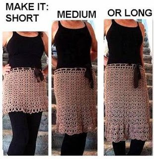 how to crochet a skirt