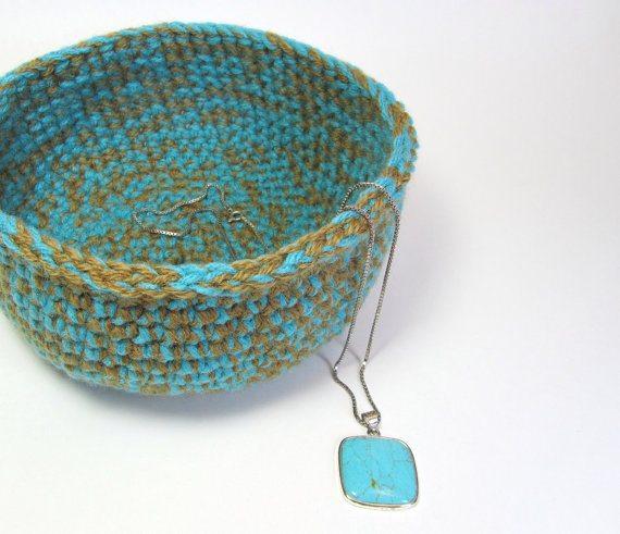 jute crochet bowl