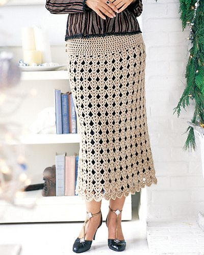 long crochet skirt pattern