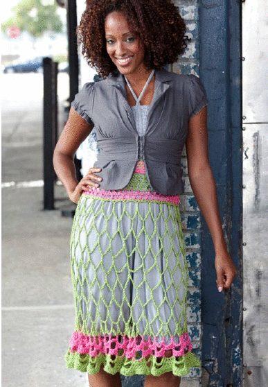 openwork crochet skirt dress pattern