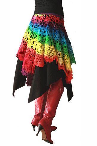regenboog haak rok