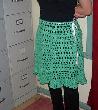 ruffled crochet skirt pattern