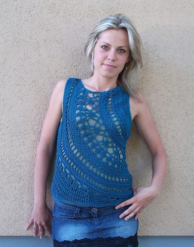 linda skuja crochet sweater pattern