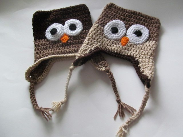 Gallery For > Crochet Owl Hat With Eyebrows