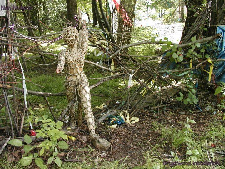 crochet barbie sculpture