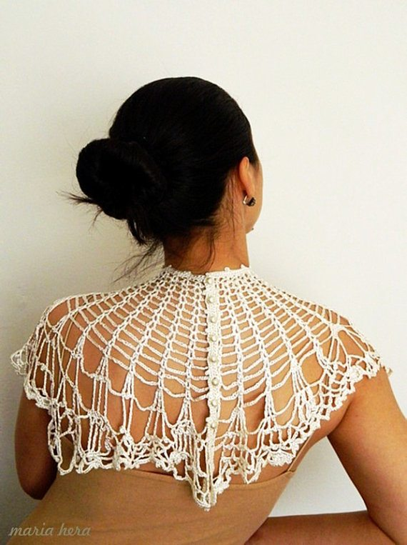 crochet capelet Inspired: Etsy Crochet Garments by Maria Hera