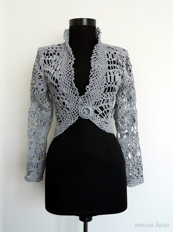 crochet jacket Inspired: Etsy Crochet Garments by Maria Hera