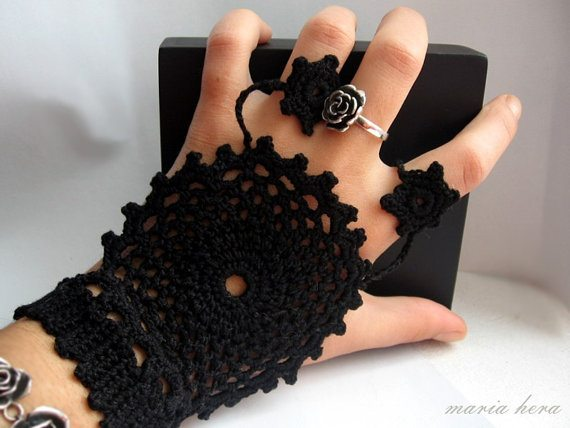 crochet jewelry Inspired: Etsy Crochet Garments by Maria Hera
