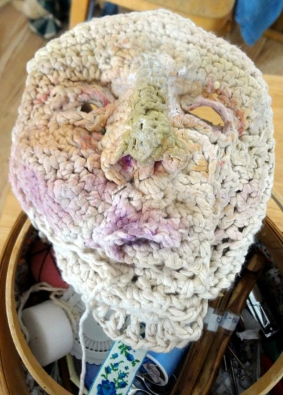 crochet sculpture art 400x558 Nan Nicksons Twisted Sister Crochet Art Sculptures
