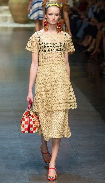 dolce and gabbana crochet 2013 New High Fashion Crochet from Dolce and Gabbana