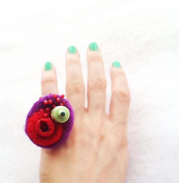 felt crochet ring Link Love! Best Crochet Blog Posts of The Week Including Free Crochet Patterns