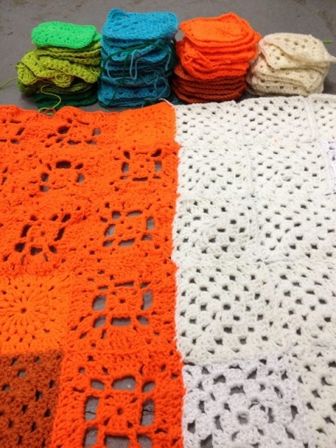 granny squares Yarnbombing Los Angeles Exhibit Opens Tomorrow
