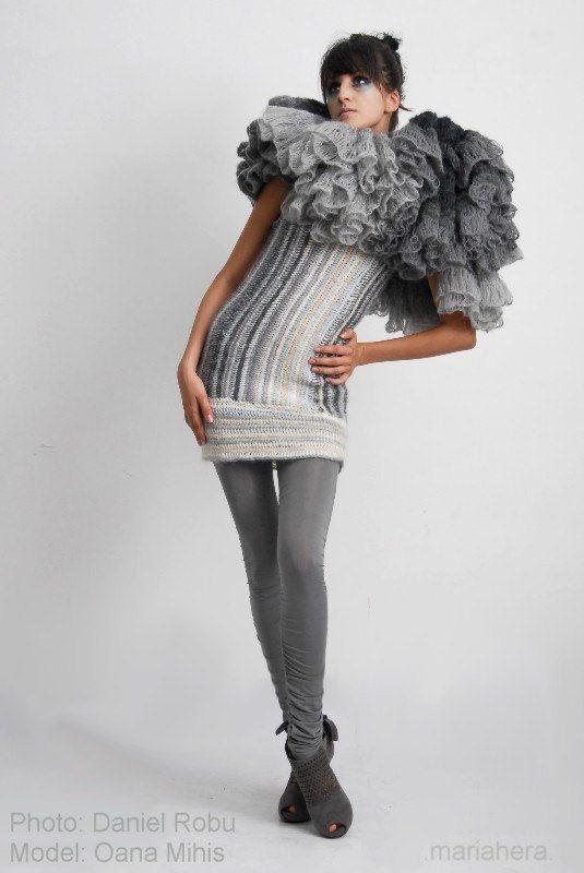 tunisian crochet dress