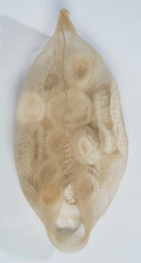 womb crochet art