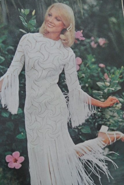 1970s crochet dress
