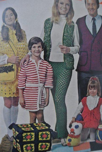 1970s crochet family