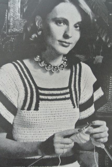 1971 crochet woman