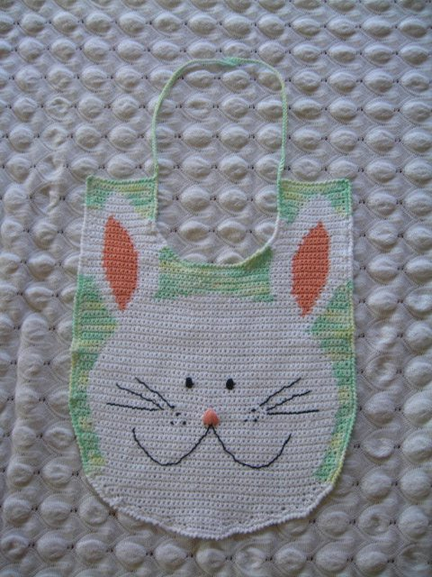 20090817 BunnyBib 20 Beautiful Examples of Crochet Mixed with Cross Stitch