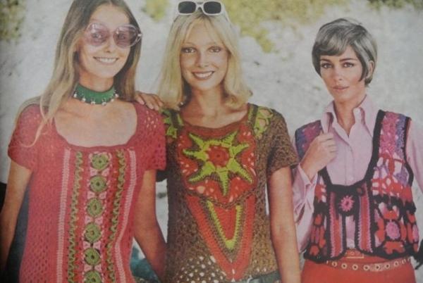 70s crochet women