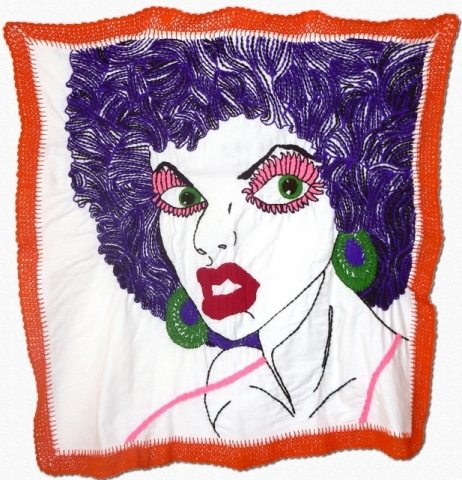 blanka crochet embroidery Blanka Amezkua: Crochet Edged Embroidery Art