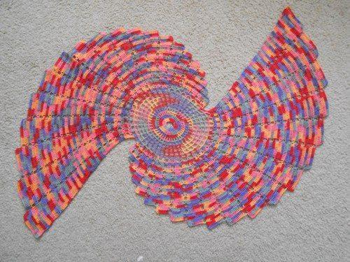 kleurrijke fractal kleedje