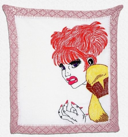 crochet border art Blanka Amezkua: Crochet Edged Embroidery Art