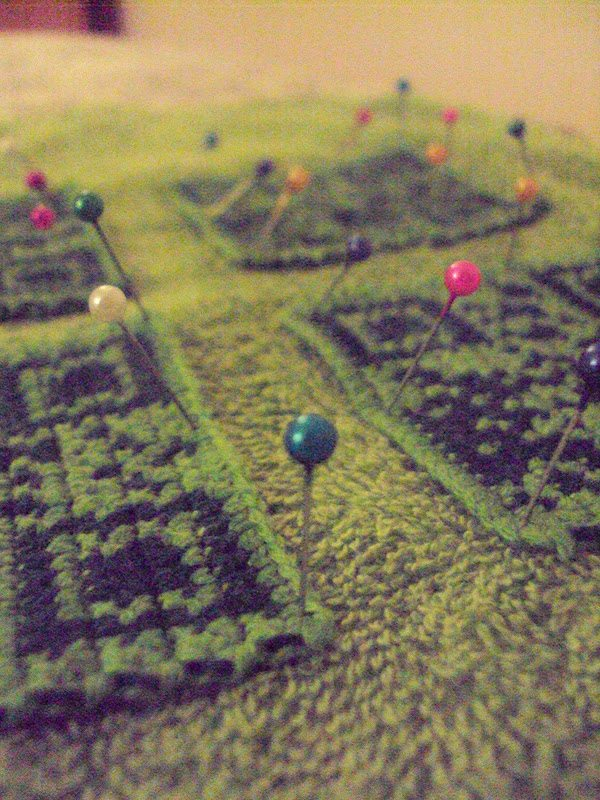 crochet qr code coaster