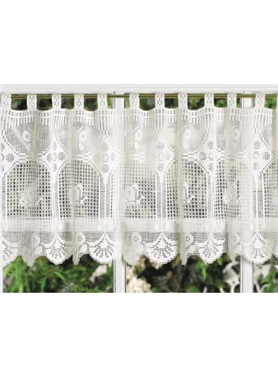 filet crochet valance