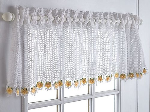 Free Crochet Pattern Flower Curtain : 10 Patrones ganchillo gratis hermosa cortina