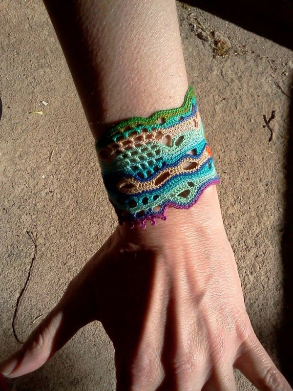 freeform crochet jewelry cuff