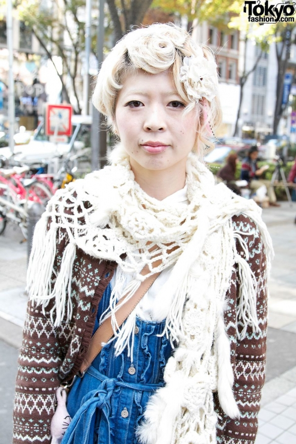 harajuku street crochet 600x900 20+ Mori Girls and Harajuku Girls in Crochet