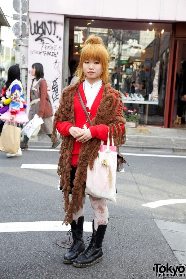 japanese street fashion crochet shawl 20+ Mori Girls and Harajuku Girls in Crochet