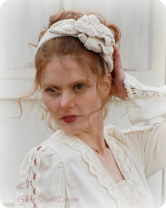 mori girl crochet headband