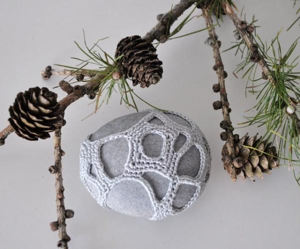 organic crochet rock