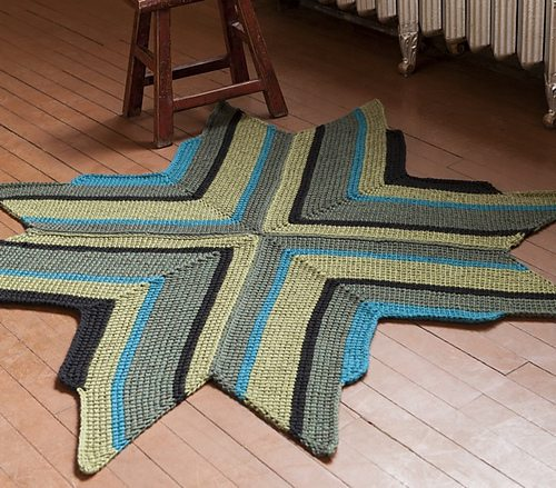 tunisian crochet rug 10 Examples of Crochet Items for the Home, a Pinterest Selection