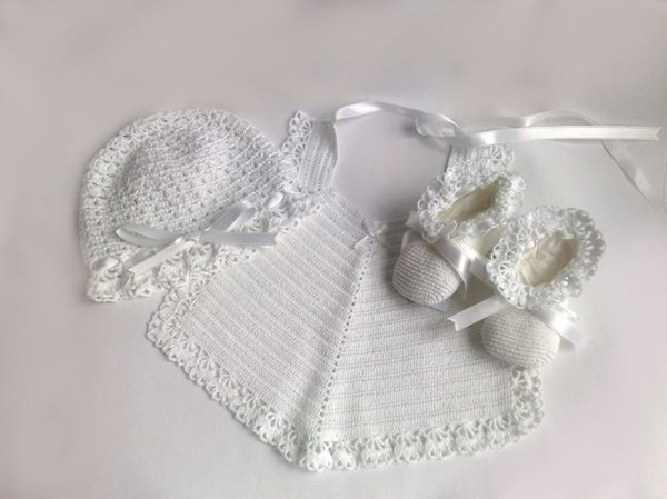 victorian crochet baby set The Simple Beauty of Contrasts: Nyoki Handmade Crochet