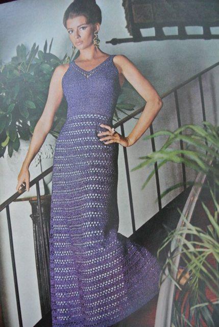 1970s crochet dress mccalls