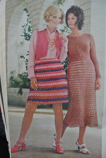 1970s mccalls crochet women 20 Crochet Style Examples from 1971 McCalls