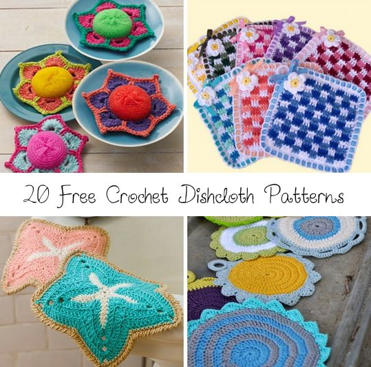 20 free crochet dishcloth patterns