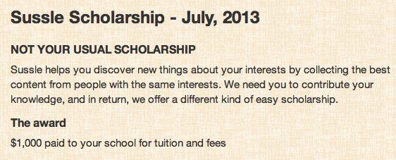 sussle scholarship