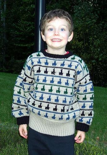 boys tapestry crochet sweater