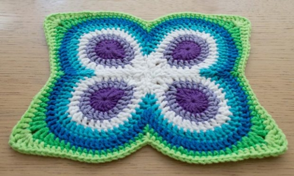 butterfly peacock mandala perspective 600x360 Link Love: This Week in Crochet Blogging