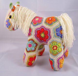 Haak Afrikaanse bloem pony