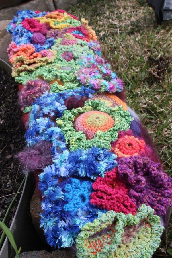 crochet art skateboard