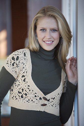 crochet bolero sweater pattern